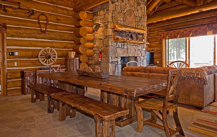 Incline Village Upscale Rustic Rental Log Home